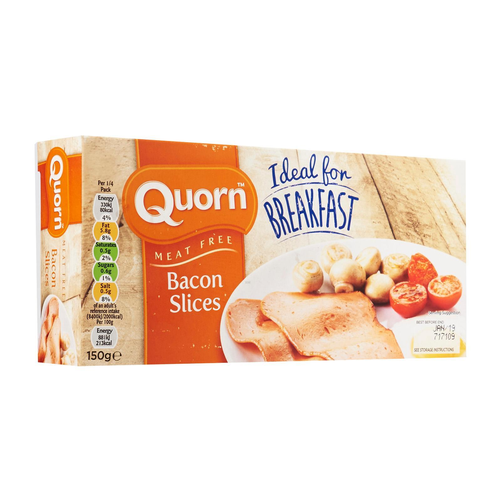 Quorn Meat Free Bacon Slices - Frozen By Redmart.