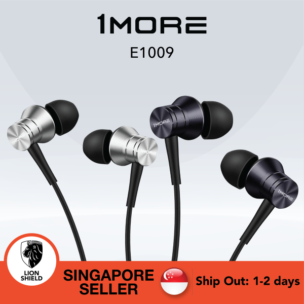 [SG] Original 1MORE E1009 Piston Fit Earphone with Mic- Available in Space Grey/Silver - Android and iOS Compatible Microphone Singapore