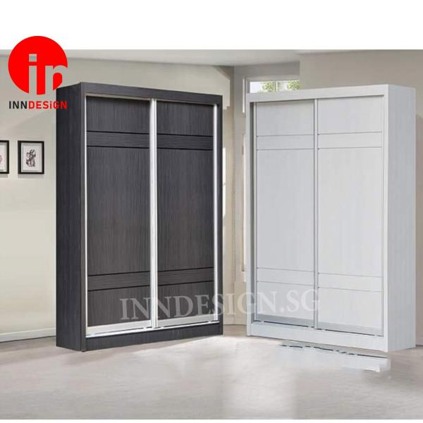 [LOCAL PRODUCT] [ 2 DAY DELIVERY] Kyne New Arrival 4ft Sliding Wardrobe [1 Year Warranty] [Free Delivery and Installation][Plywood Material]