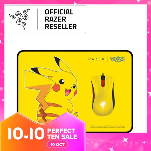 Razer Pokémon – Razer DeathAdder Essential + Razer Goliathus Speed Pikachu Limited Edition (Mouse+Mat Bundle)