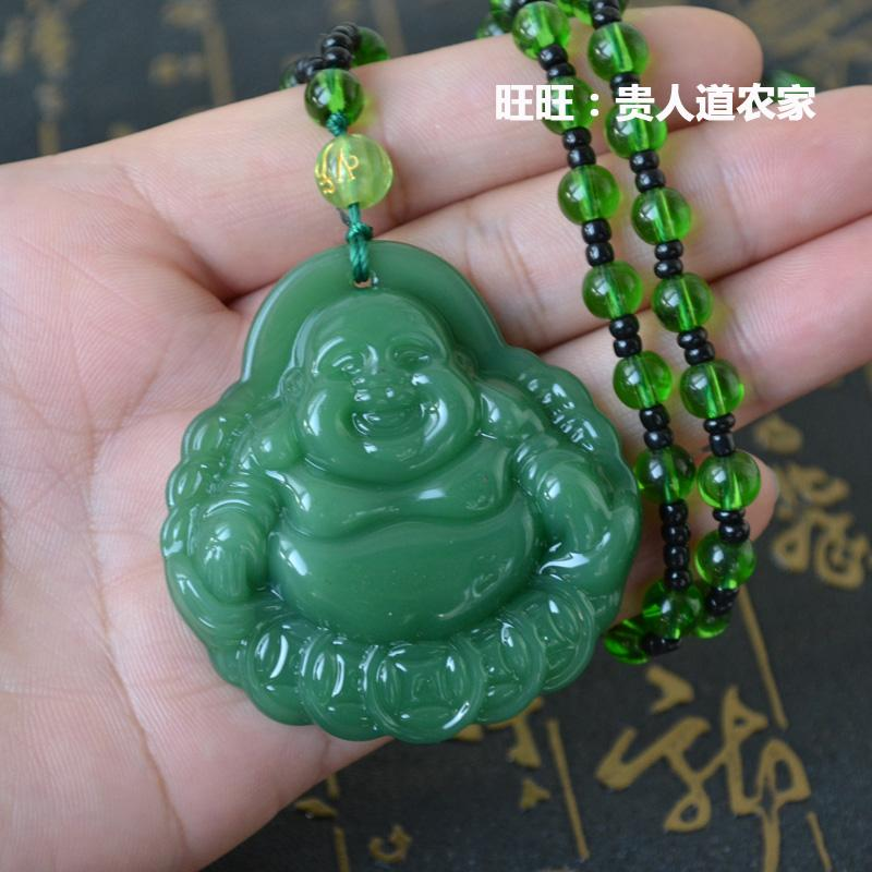 Berani Kalung Berantai Baru Musim Semi atau Musim Gugur Kalung Imitasi Batu Giok Guanyin Budha