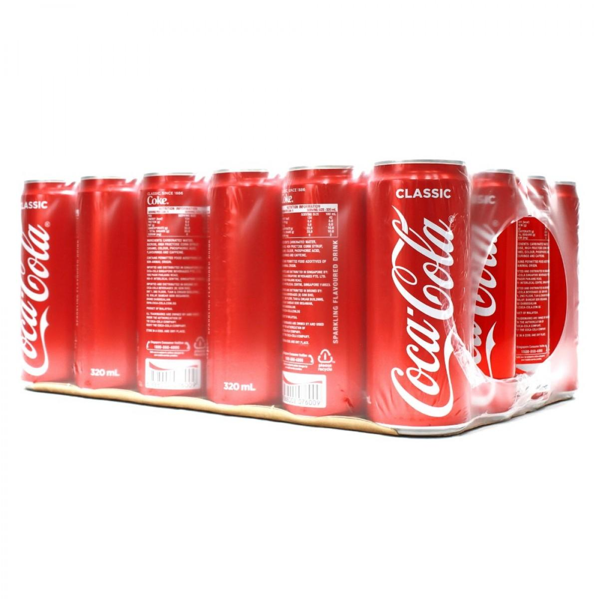 21785294f06b Coca Cola Coke Classic 24X330ml Cans Carton Deal (24X330ml)
