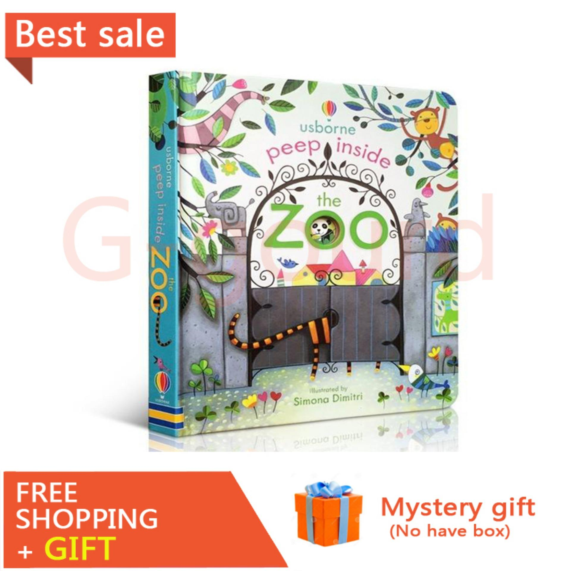Peep Inside The Zoo Animal English Educational Flap Picture Books Baby Early Childhood Gift For Kids Libros