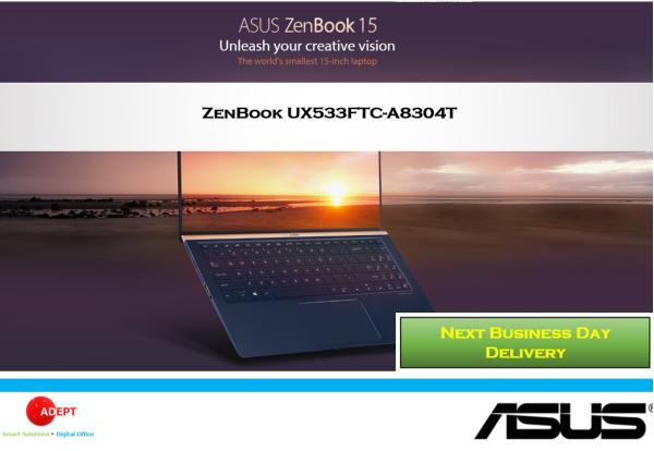 Asus ZenBook UX533FTC-A8304T 15 i7(10th Gen) 16GB 1TB