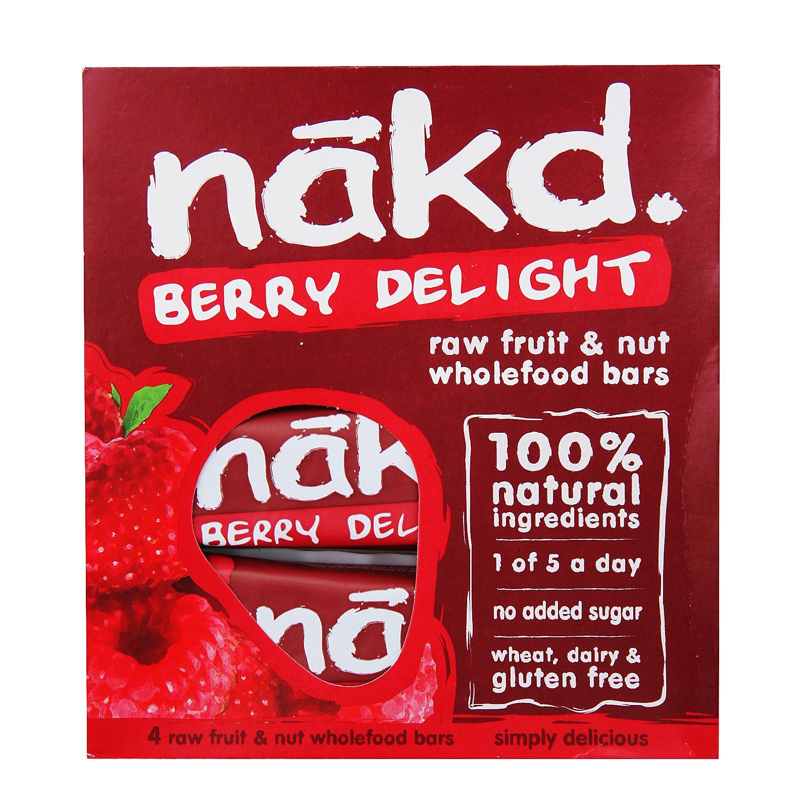 Nakd Gluten Free Berry Delight Wholefood Bars By Redmart.