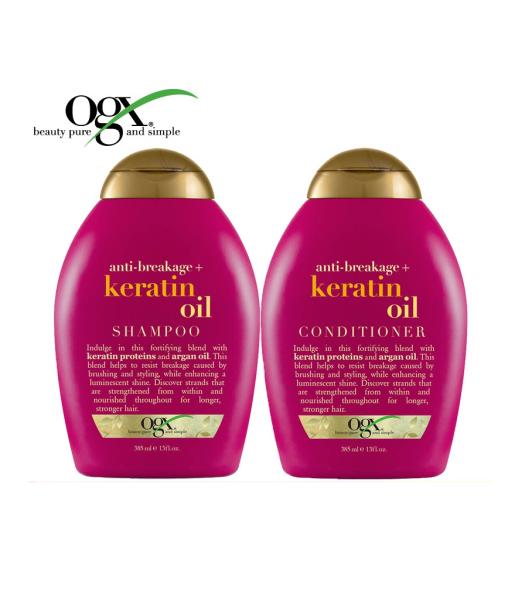 Buy (BUNDLE) OGX Keratin Oil Shampoo/Conditioner (2 x 385ml) Singapore
