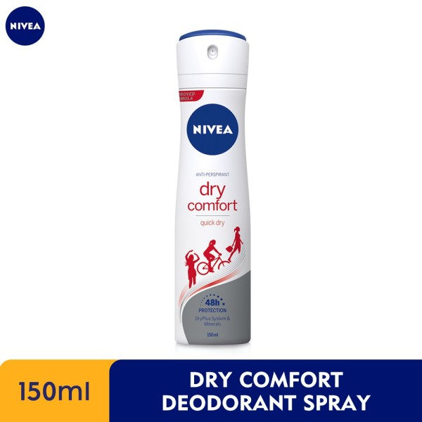 Buy NIVEA DRY COMFORT QUICK DRY DEODORANT SPRAY 150ML Singapore