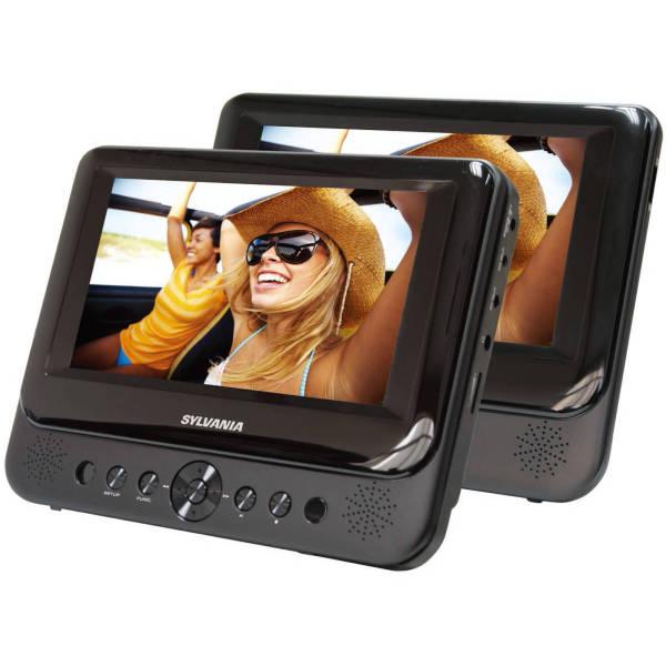 Sylvania 7 Dual Screen Portable DVD Player, Black