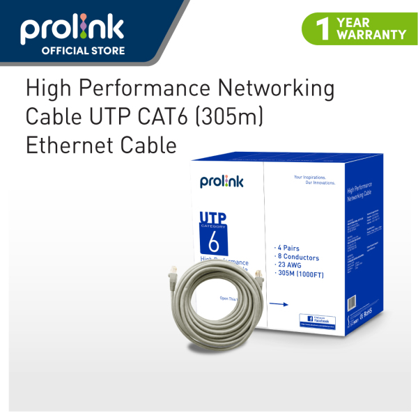 Prolink CAT6 UTP LAN Cable (305m) / Gigabit LAN Ethernet cable - High Performance Networking Cable (high-speed network)