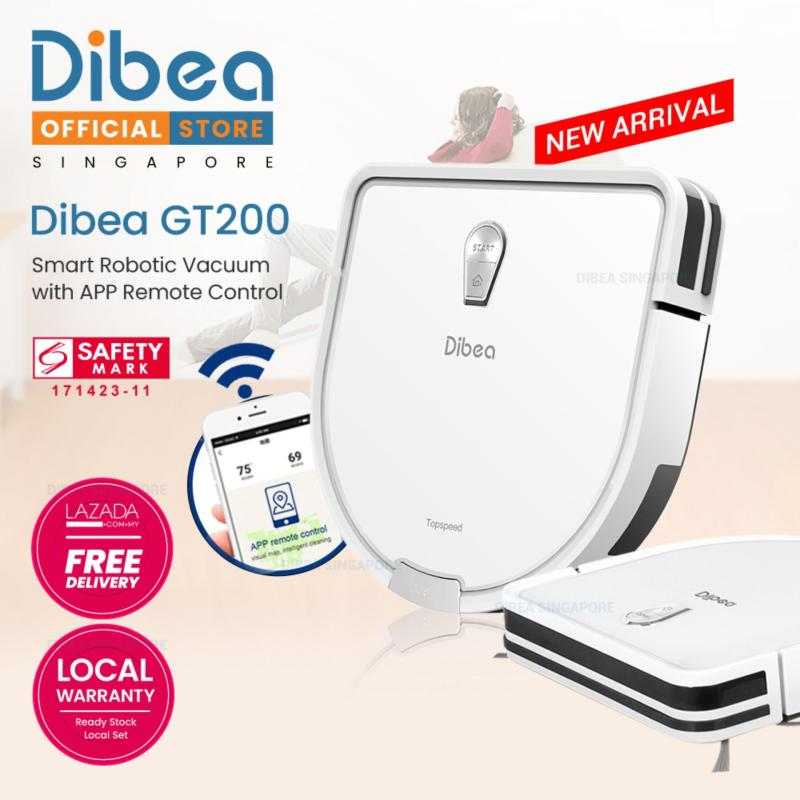 GT200 Robotic Vacuum Cleaner Gyroscope With Wifi Apps Control Singapore