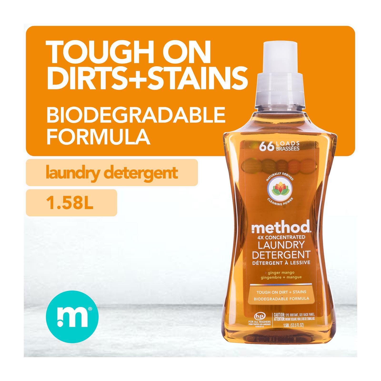 Method 4x Concentrated Laundry Detergent - Ginger Mango (66 Loads)