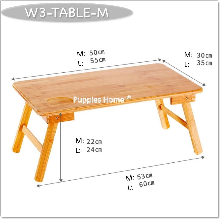 Wooden Foldable Laptop Table Stand Bed Folding Wood Table with Drawer USB Fan Portable Notebook
