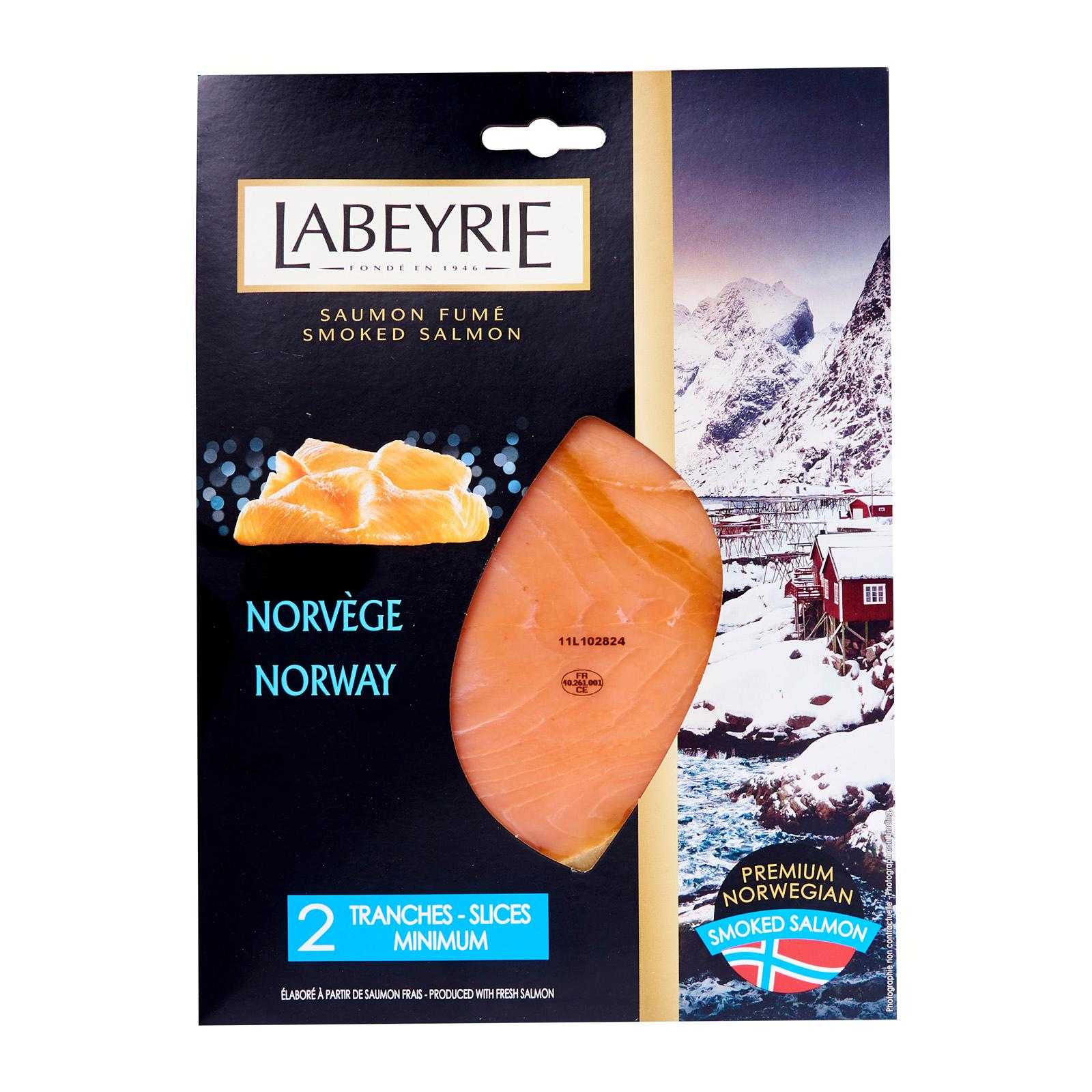 Labeyrie Norwegian Smoked Salmon - 2 Slices