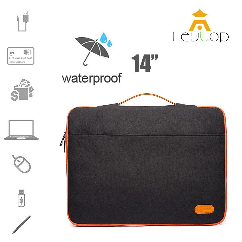 LEVTOP Laptop Cases 14 Inch Laptop Bag Ultra-Slim Padded Laptop Sleeve Case Waterproof Tablet Carrying Sleeves Protective Bag Cover Computer Briefcase Ultrabook Carry Bag Multi Pockets