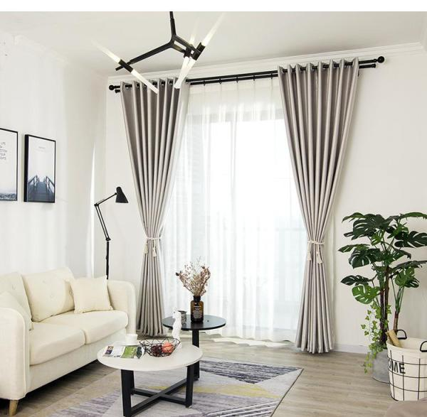 Poly Suede Blackout Curtain - 150cm by 250cm (Hook) - Metallic Silver