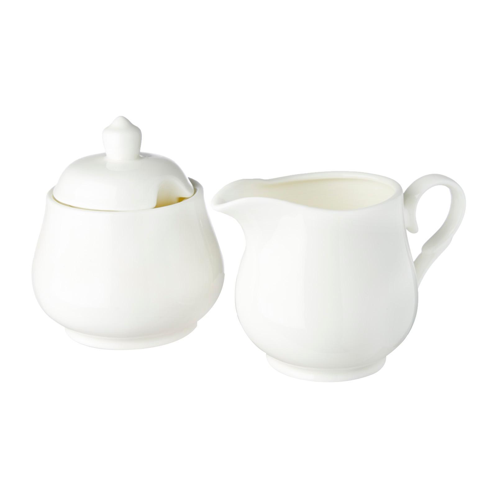 Wilmax England Sugar Bowl And Creamer 2 Pcs Set