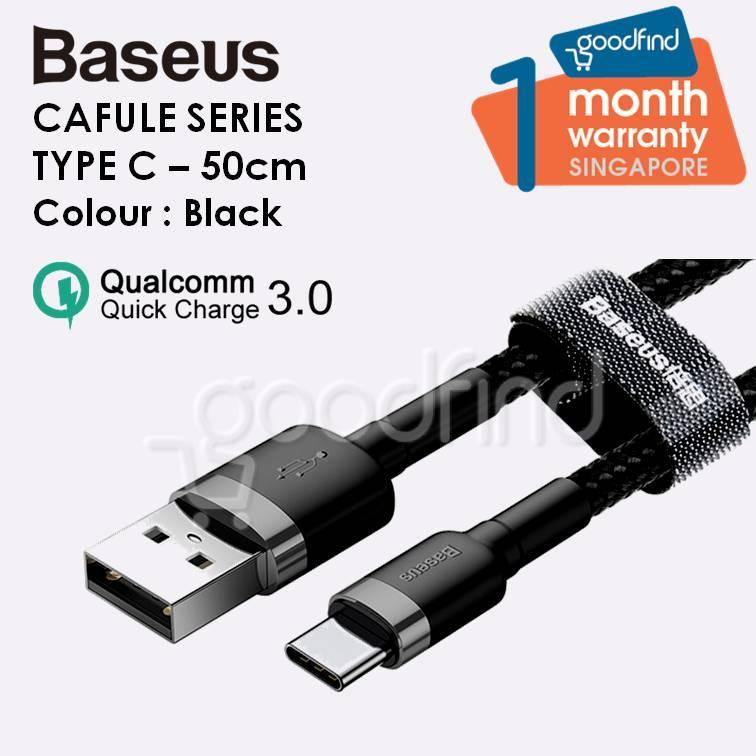 Baseus Cafule Series Type C Cable USB C Cable 50cm Qualcomm QC3.0 Baseus Kevlar