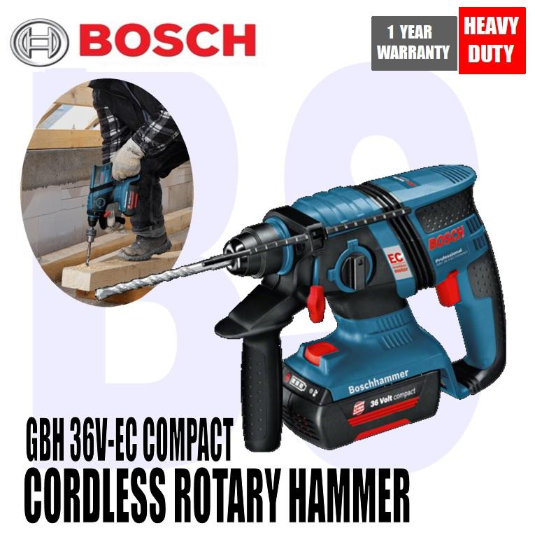 BANSOON BOSCH Cordless Rotary Hammer with SDS Plus GBH 36 V-EC Compact Professional. no-load speed 0-1500rpm