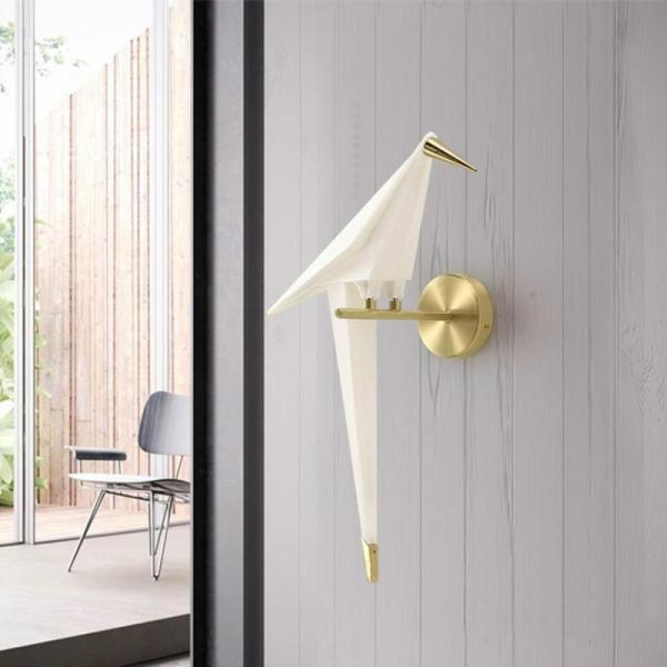 Modern Nordic Aisle Bird Wall Lamp Living Room Restaurant Restaurant Leisure Bar Personalized Study Bedroom Bedroom Bedside Lamp , Warm Light - intl