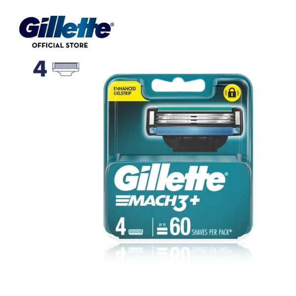 Buy Gillette Mach 3+ Razor Blades 4 Cartridges Refills Singapore