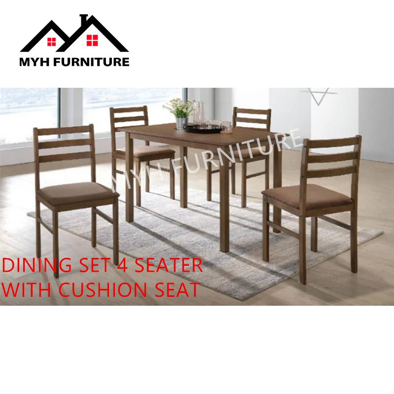 DINING SET 4 SEATER WITH CUSHION SEAT