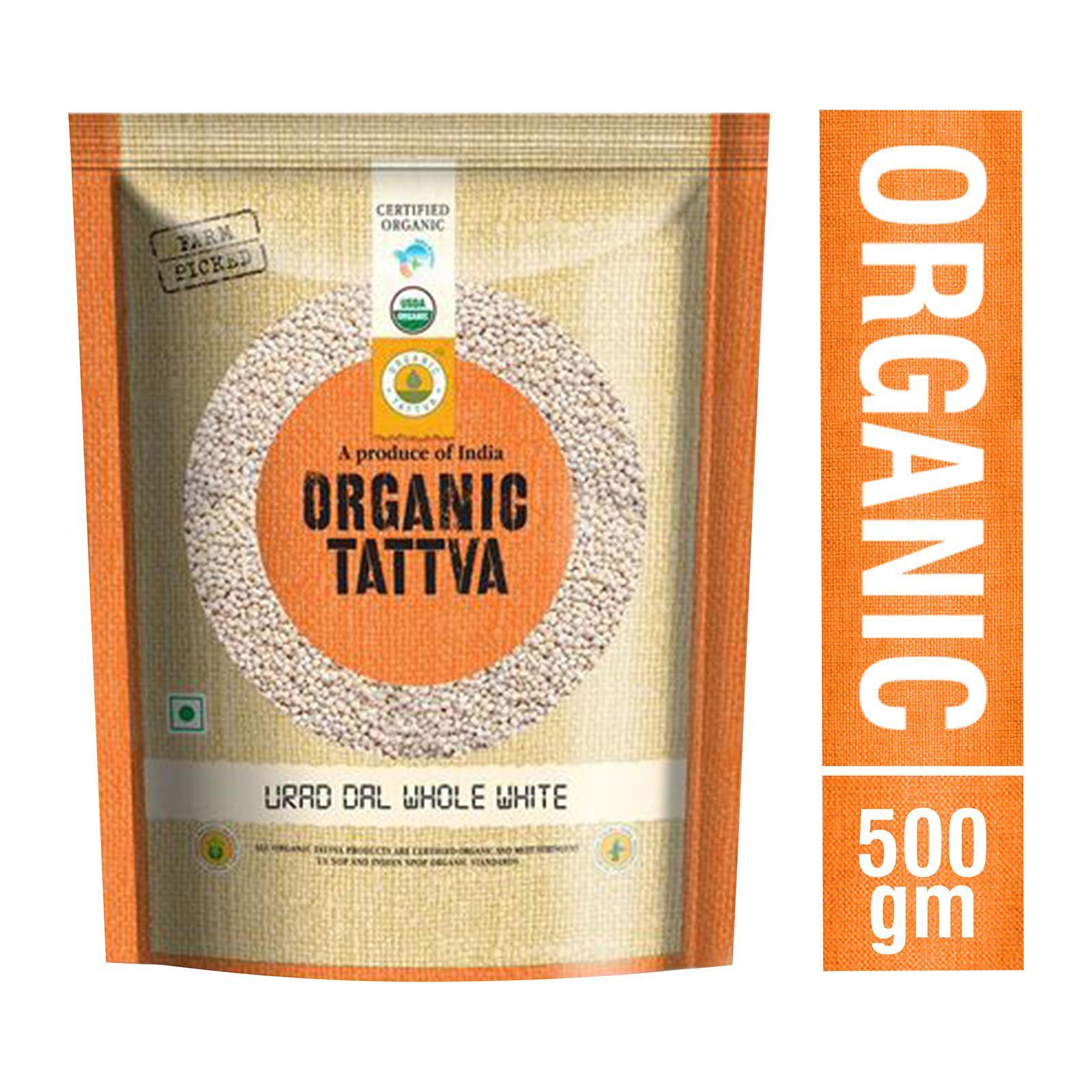 Organic Tattva Organic Urad Dal Whole White - By Sonnamera