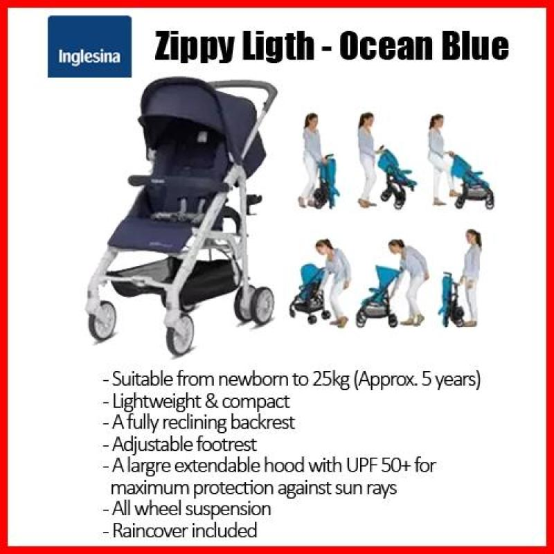 Inglesina Zippy Light★RAINCOVER included★Newborn to 20kg★Adjustable footrest★A large extendable hood Singapore