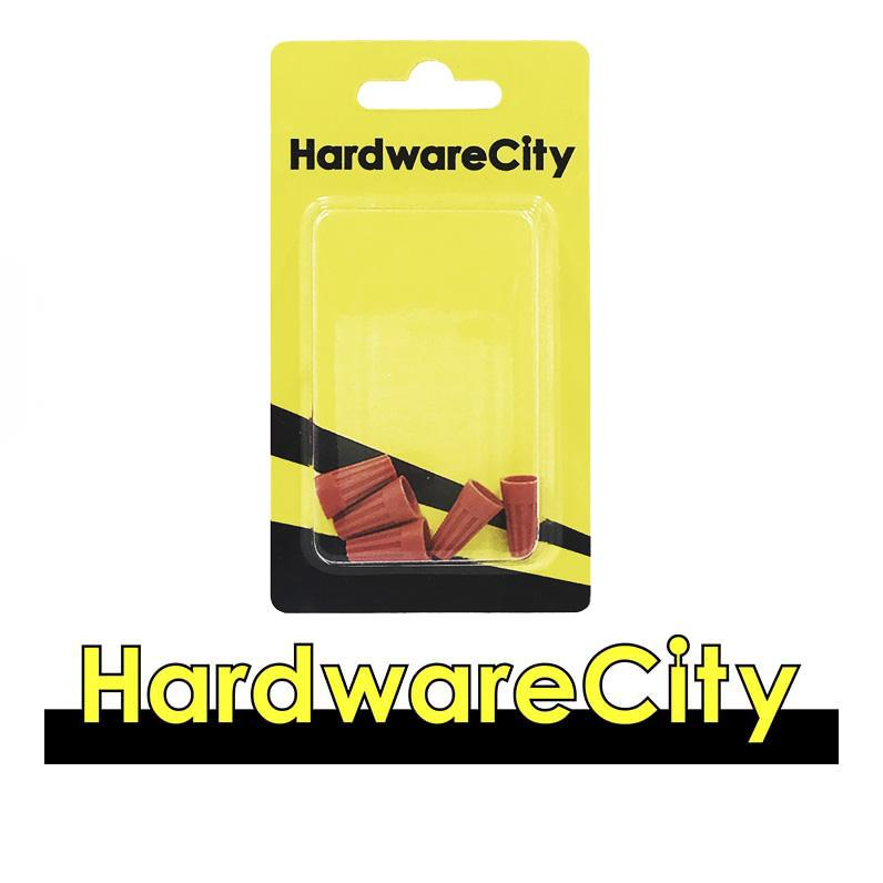 HardwareCity Screw-On Wire Nuts (22-14 AWG), 600V Max, 5PC/Pack