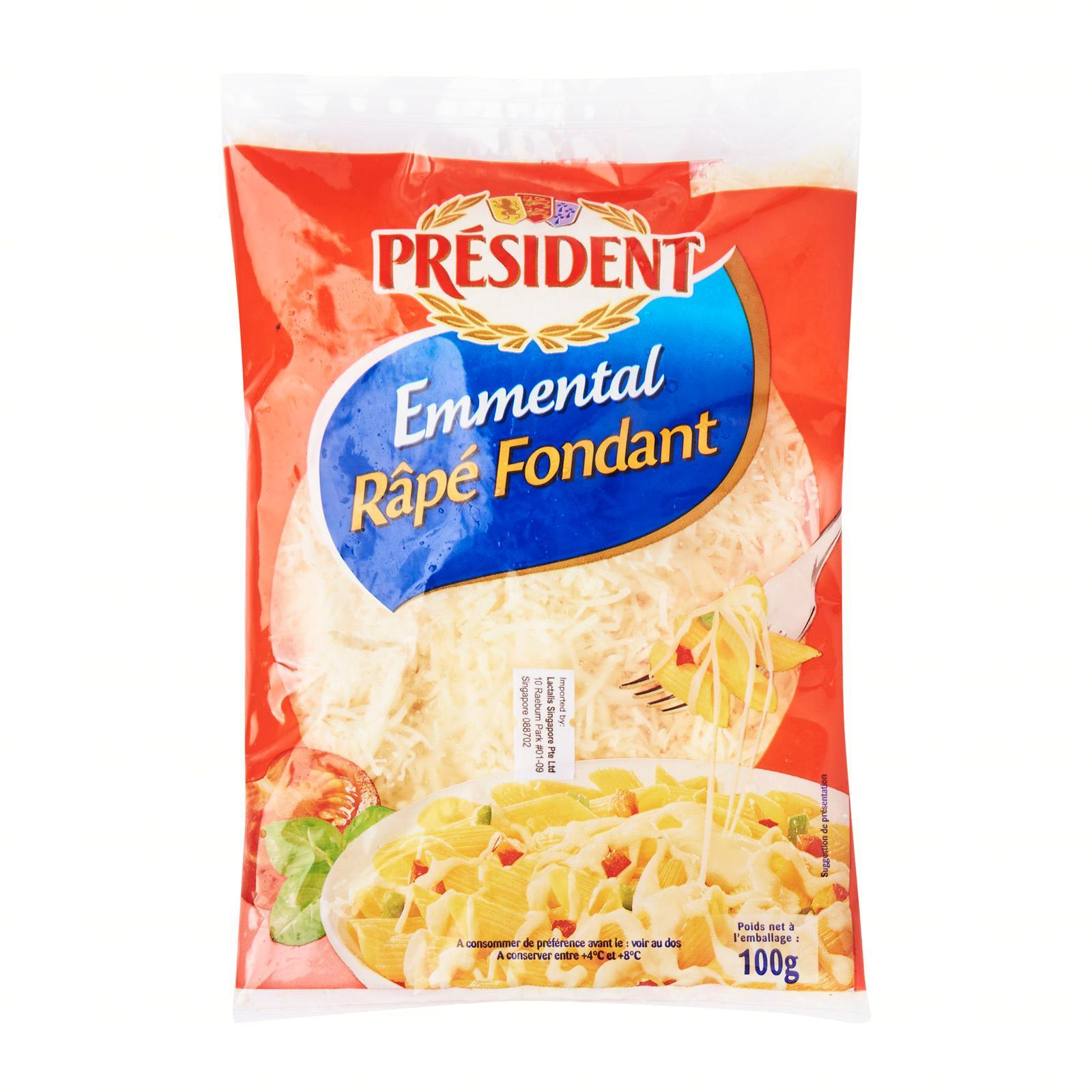 President Grated Emmental Cheese