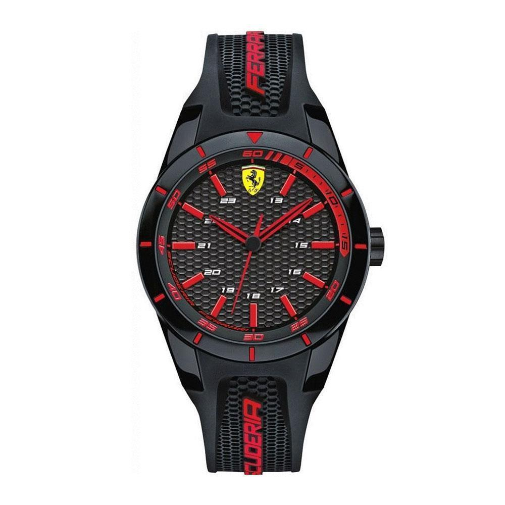 Ferrari Scuderia Redrev Analog Casual Analog 0840004 Resin Black Mens Watch By H2 Hub.