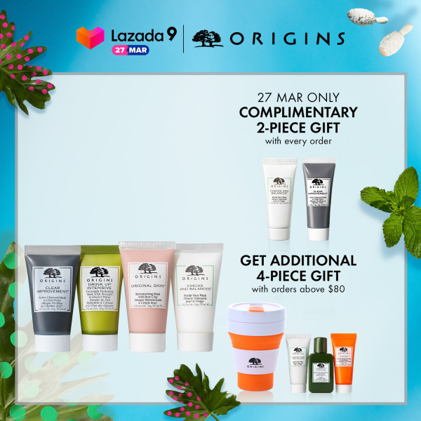 Buy Origins - 4-pcs Skincare Set with Face Wash, Charcoal Mask, Hydrating Mask, Retexturizing Mask (worth $75) • Clean & Mask Singapore