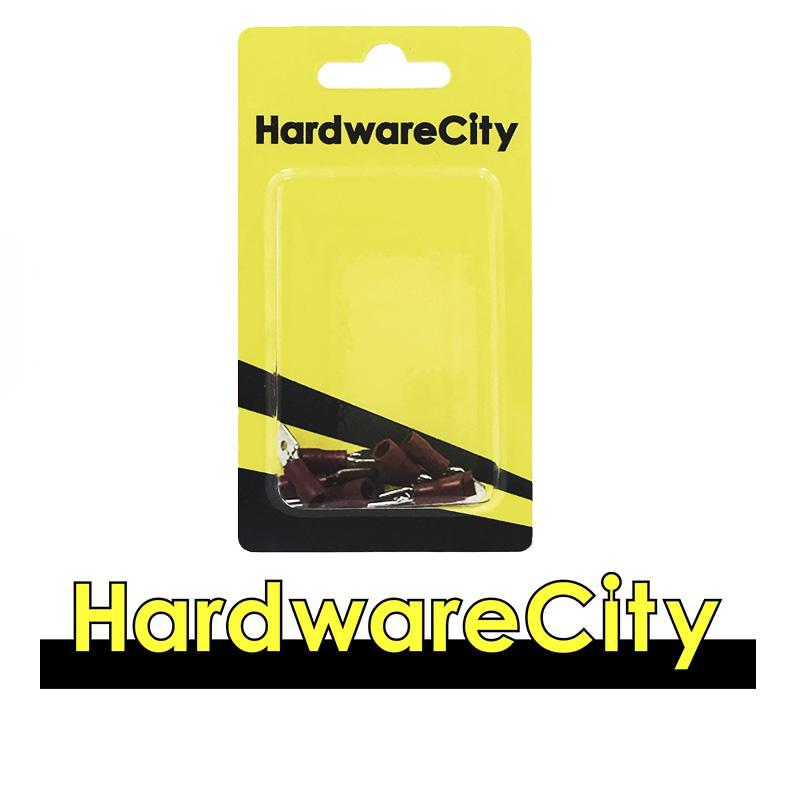 HardwareCity Insulated Male Crimp Connectors, Red (22AWG - 16AWG), 10PC/pack