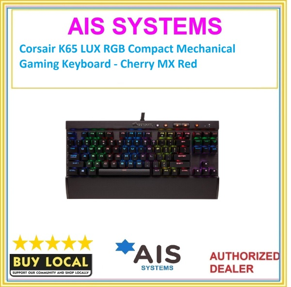 Corsair K65 LUX RGB Compact Mechanical Gaming Keyboard - Cherry MX Red Singapore