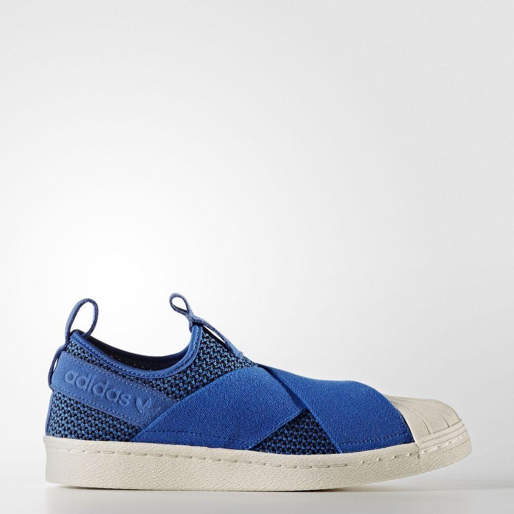 Adidas Woment Superstar Slipon Original Shoe blue BB2120 RHK