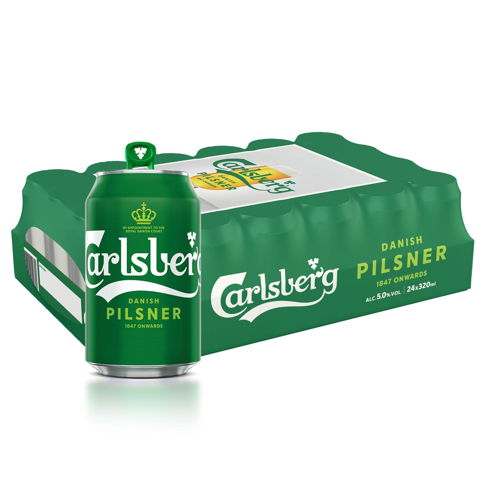 Carlsberg Green Label Lager Beer Can 24 x 320ml