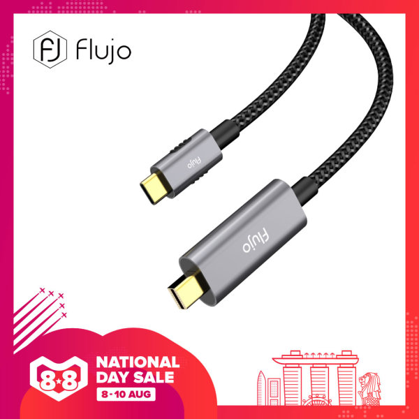 Flujo X-31 USB C to Mini DisplayPort Cable 4K 60HZ Video Type C (Thunderbolt 3) to Mini DP Male to Male Adapter for MacBook 2019/2018/2017/2016, iPad Pro 2020/2018, Samsung S8 and More(Space Grey/Silver)