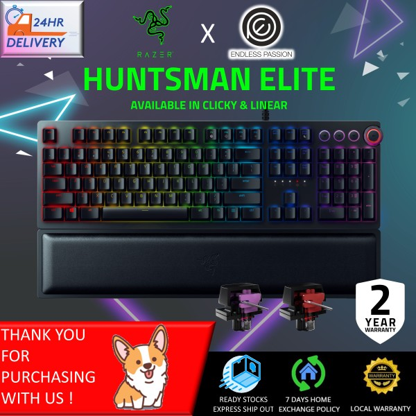 Razer Huntsman Elite - Opto-Mechanical Switch Gaming Keyboard (Clicky/Linear Switch) [FREE 24 hours delivery] Singapore