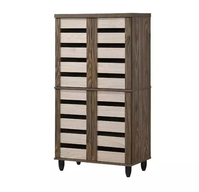 [Furniture Amart] WOODEN 4 DOOR TALL SHOE CABINET
