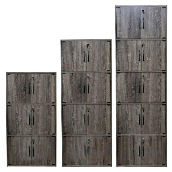 [A-STAR] OAK STORAGE UTILITY CABINET BOOKCASE IN 2 TO 10 DOORS