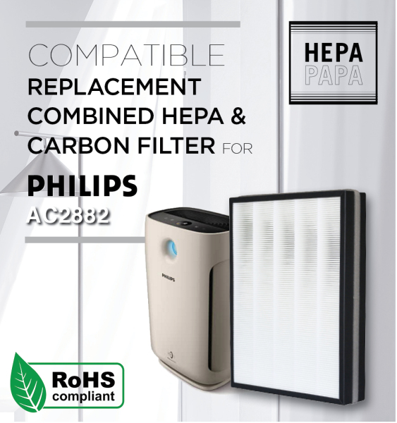 Philips AC2882 / AC2887 / FY2422 / FY2420 Compatible Combined HEPA & Carbon Filter [7 Days Return] [Free Alcohol Swab] [SG Seller] [HEPAPAPA] Singapore