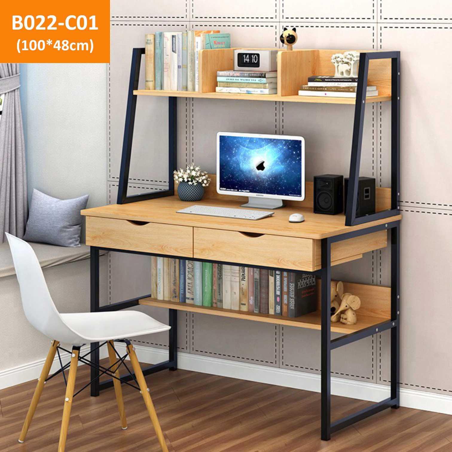 AIDEAL.sg Simple desk/Study table/Study desk/Double shelving study desk