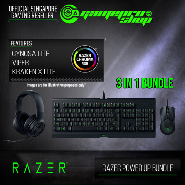 Razer Power Up Bundle (VIPER+CYNOSA LITE+KRAKEN X LITE)- RZ85-02740200-B3M1 (2Y) Singapore