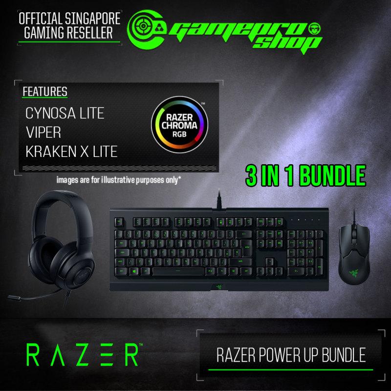 Razer Power Up Bundle (VIPER+CYNOSA LITE+KRAKEN X LITE)- RZ85-02740200-B3M1 (2Y) Singapore