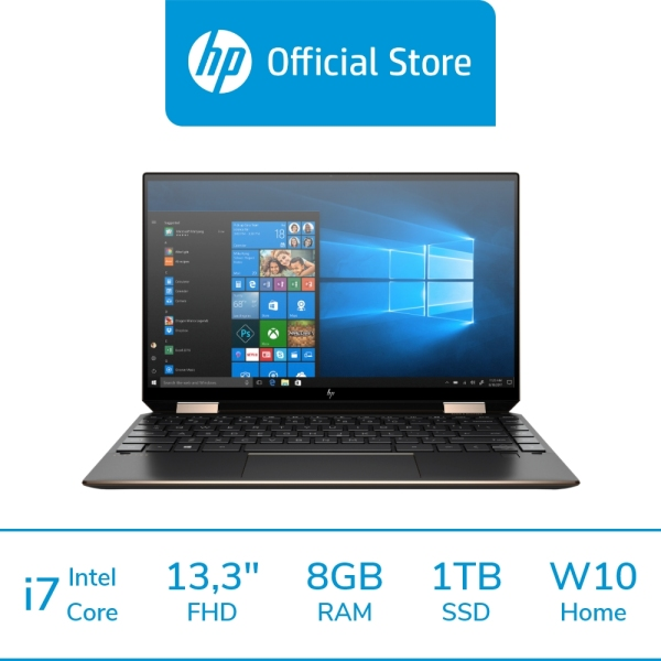 HP Spectre x360 Convertible 13-aw2065TU Laptop / Intel® Core™ i5-1135G7 / 8 GB LPDDR4-3200 SDRAM / 1 TB PCIe® NVMe™ M.2 SSD / Windows 10 Home 64  / 11th Generation / Intel® Iris® Xᵉ Graphics / First 2 Years ADP Coverage