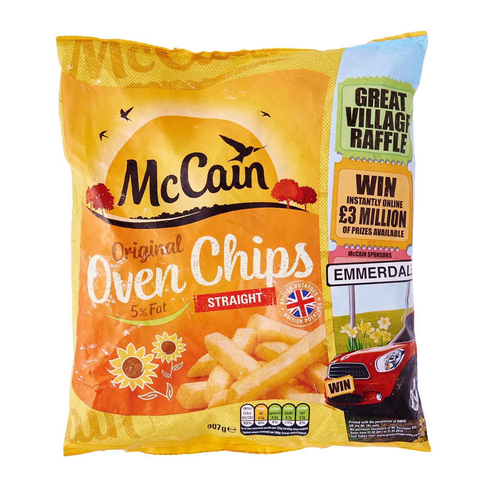 McCain 5% Fat Oven Straight Cut Chips - Frozen