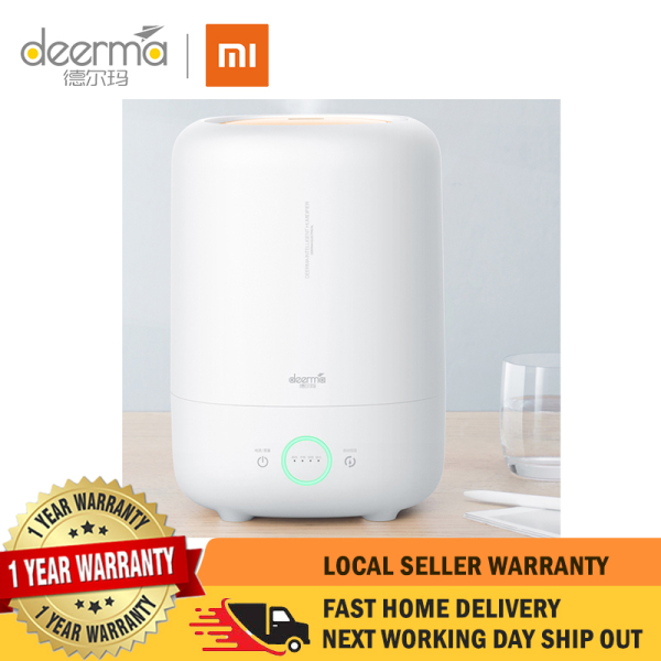 XIAOMI Deerma Ultrasonic Mist Humidifier [KNOB] | Atomizing liquid water | Cylinder | Long coverage | Transparent | Lightweight | 5L Capacity | Whisper-quiet operation | Nursery | Office | Home Singapore