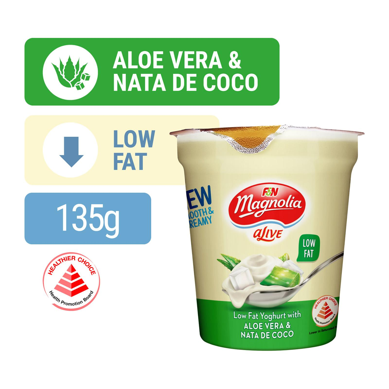 F&N Alive Low Fat Yoghurt with Aloe Vera and Nata De Coco 135g