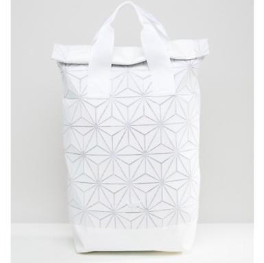 Adidas Issey Miyake White Backpack Bag