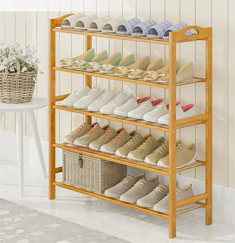 Bamboo Shoe Rack/Storage Rack /shoe shelf / 4/5/6 Tiers 70cm /80cm/90cm