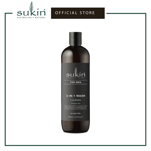 Buy SUKIN 3-IN-1 WASH CALMING | FOR MEN 500ML Singapore